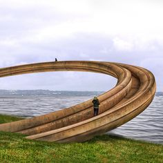 The Welsh government has abandoned plans for a ring-shaped walkway at Flint Castle, which was described by critics as a symbol of oppression Installation Architecture, Landscape Architecture Design, Interior Architecture, Flint Castle, Instalation Art, Iron Ring, Urban Landscape, Oeuvre D'art, Bungalow