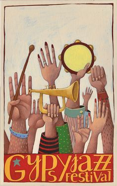 I like this one, because it represents all the musicians. Concert Posters, Typography Prints, Show Of Hands, Jazz Poster, Poster Art, Art, Poster Design, Music Art, Music Cartoon