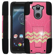 Amazon.com: Pink Glitter [NOVA] Rugged Dual Layer Hybrid Hard Protective Case [Non-Slip] Cover drops and impacts [Fits Ballistic Nylon Version] for Motorola Droid Turbo XT1254: Cell Phones & Accessories