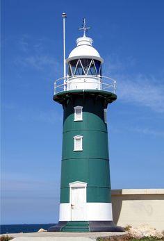 South Mole Lighthouse, Fremantle Harbour, Western Australia