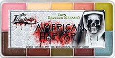 Created for American Horror Story's Makeup Dept. Head, Eryn Krueger Mekash. This unique palette contains two new colors specifically designed by her makeup crew for the AHS series. 'Coven' and 'Assylu