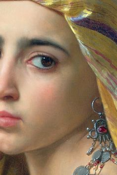 Girl with a pomegranate,1875 (Detail) by William-Adolphe Bouguereau
