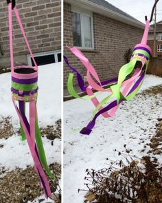 Turn a recycled can into a windsock