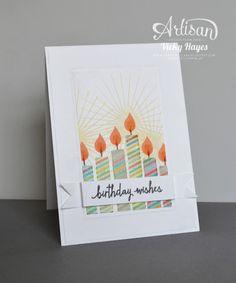 Glowing Birthday candles - Stampin' Up artisan blog hop