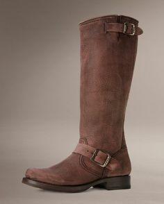 Women's Full Grain Veronica Slouch Boot - Dark Brown