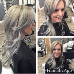 Silver blonde balaya