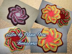 Learn to Crochet - How to make a hot pad / pot holder - YouTube