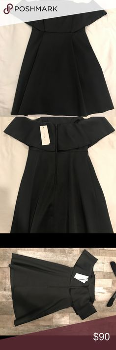 Sandro off shoulder black dress size 1 NWT Brand new with tags Sandro Dresses Mini