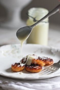 Coconut Oil Fried Plantains with Sweetened Condensed Milk- swap out sweetened condensed milk for sour cream and sweetener or chipotle seasonings