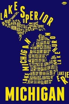Michigan Counties Print