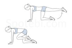 Donkey kicks exercise guide with instructions, calories burned and muscles worked. Learn proper form, discover all health benefits and choose a workout. http://www.spotebi.com/exercise-guide/donkey-kicks/