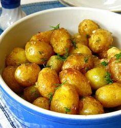 Kızarmış Soslu Top Patatesler