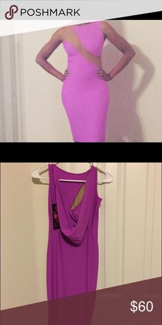 Pink Lucy Dress Purple fitted hooded dress with mesh material.  Cute to wear for a night out on the town. Dresses Backless