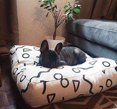 Shapes Pattern Floor Cushion - Modern Dog Bed - Pouf Cover - Kiddies Room Floor Cushion - Modern Fun Floor Cushion