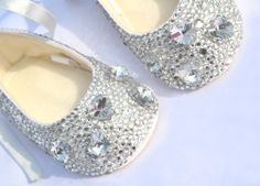 crystal baby shoes.  http://www.etsy.com/listing/100874584/crystal-toddler-baby-shoes