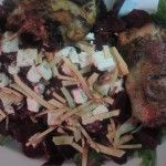 Roasted Beets with Feta Cheese and Roasted Chicken!!!