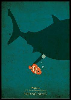 Minimalist Pixars Disney A3 poster - Finding Nemo