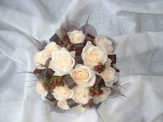 Chocolate and Cream Wedding Flower Bouquet - Country Garden Florist, Tonbridge