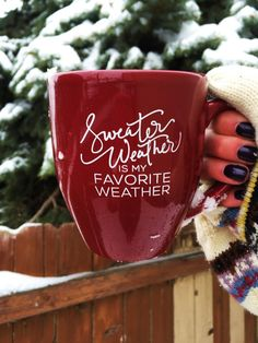 Sweater Weather Is My Favorite Weather Mug // Fall by AleahShop