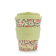 William Morris Blackthorn Ecoffee Cup is an environmentally responsible reusable Coffee Cup made with natural bamboo fibre. William Morris Ltd Edition. Cafe To Go Becher, Cappuccino Cups, Coffee Cups, Take Away Cup, Reusable Coffee Cup, Disposable Cups, Micro Onde, Fibres, William Morris
