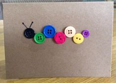 Handmade Button Cards by HareandBear on Etsy https://www.etsy.com/listing/218177399/handmade-button-cards