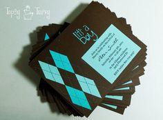 argyle baby shower invitation finished by imtopsyturvy.com, via Flickr