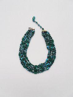 Vintage Necklace Vintage Bead Necklace Glass by PaperWoodVintage, $26.00