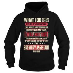 Brewery Assistant What I do Job Title TShirt