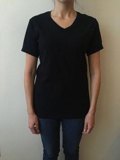 1b2888301c7 Luxury Women s V-Neck T-Shirt- Black
