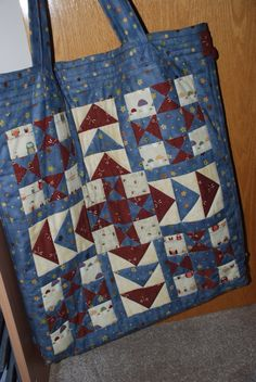 Patchwork bag made in sewing class