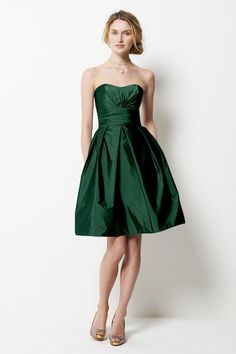 Love this green - have always wanted a dress in this dark green color but can NEVER find one