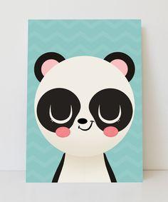 Lámina panda feliz