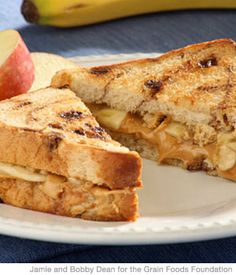 Crunchy Super Kid's Sandwich with Peanut Butter and Banana