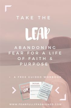 Take the Leap: Abandoning Uncertainty for a Life of Faith & Purpose | Fearfully Fashioned -- Taking a leap of faith doesn't require knowing the what, who, when, where, why, and how. It requires faith knowing and trusting that God there is to catch and lead you as He calls your forth to accept His call. Click to read or pin to save for later to discover how you can take the leap and live a life of faith and purpose. #faith #purpose #FearfullyFashioned