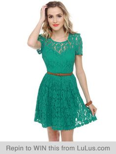 love the color of this dress. luluslove teal