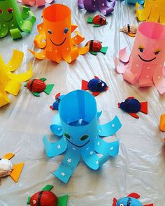 toilet paper roll octopus craft  |   Crafts and Worksheets for Preschool,Toddler and Kindergarten