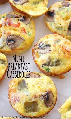 Mini Hashbrown Bacon and Veggie Breakfast Casseroles Recipe - SO YUMMY! Breakfast For Dinner, Breakfast Dishes, Breakfast Recipes, Breakfast Ideas, Brunch Ideas, Breakfast Sandwiches, Breakfast Muffins, Breakfast Club, Veggie Breakfast Casserole