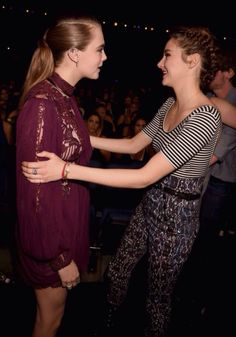 Cara Delevingne and Shailene Woodley at The 2015 MTV Movie Awards in Los Angeles - 12.04.15