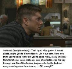 Sam Winchester cries his way trough sex