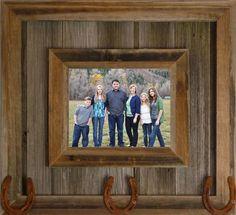 Rustic Western Durango Metal Decor Distressed Barnwood Picture Frame