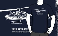 'Bell JetRanger T-Shirt by PrecisionHeli Colours, Tote Bag, Mugs, Hoodies, Prints, Mens Tops, T Shirt, Stuff To Buy, Style