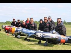TJD RC MODELS WARBIRDS DISPLAY TEAM AT LMA ROUGHAM MODEL AIRCRAFT SHOW -...