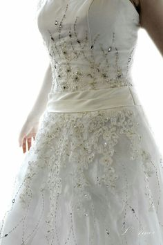 So in love with the bead work on this dress!!!