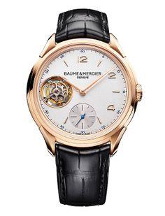 Baume et Mercier Clifton 1892 Tourbillon Volant Fine Watches, Cool Watches, Watches For Men, Men's Watches, Patek Philippe, Devon, Cartier, Omega, Mens Rose Gold Watch