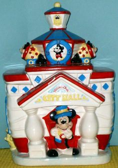DISNEY TOON TOWN CITY HALL COOKIE JAR, MARKED DISN.    What a great present!