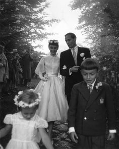 Audrey and Mel ( wedding day, Burgenstock, Switzerland, 1954)