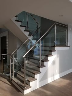100 Best Glass Railing For Stairs Glass Enclosures Images In | Staircase Railing With Glass | Low Cost | Cost | Residential | Pinterest | Spiral