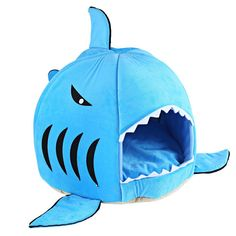 COCOPET Shark Bed for Small Cat Dog Cave Cozy Bed Removable Cushion,waterproof Bottom * Click image to review more details. (This is an affiliate link and I receive a commission for the sales)