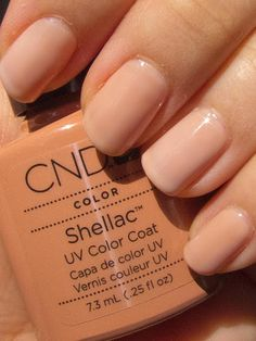 Shellac Cocoa  with  Romantique overlay gives this new hue.