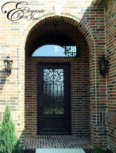 Custom wrought iron door with full arch transom. Decor, Doors, Single Doors, New Homes, Wrought Iron Doors, House, Home Decor, Iron Doors